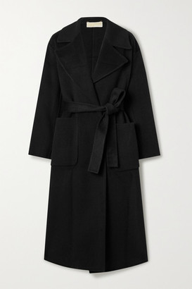 MICHAEL Michael Kors Belted Wool-blend Felt Coat - Black