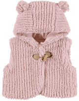 Mayoral Hooded Faux-Fur Vest, Pink, Size 3-24 Months