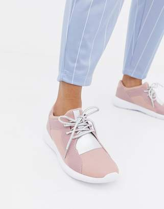 Miss KG Lace Up Trainers-Pink