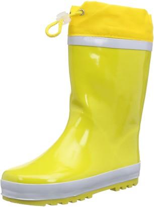 Playshoes Unisex Kid's Lined Rain Boot Wellies Basic Wellington Rubber