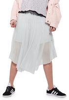 Topshop PETITE Tulle Asymmetrical Midi Skirt