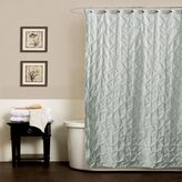 Bed Bath & Beyond Noelle Pintuck 54-Inch x 78-Inch Shower Curtain in Aqua