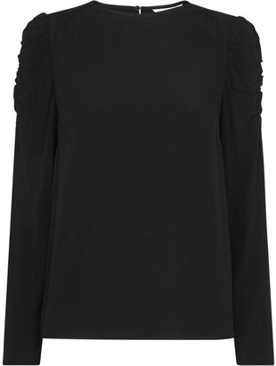 Whistles Nelly Ruched Long Sleeve Top