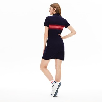 Lacoste Women's Color Block Stripe Polo Dress