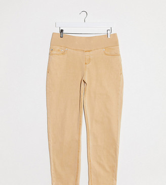 ASOS DESIGN Maternity high rise farleigh 'slim' mom jeans slim mom jeans in orange with under the bump waistband