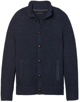 Textured Merino-Blend Sweater Jacket