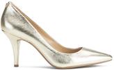 MICHAEL Michael Kors Women's MK Flex Leather Court Shoes Pale Gold