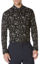 Perry Ellis Camouflage Slim-Fit Shirt