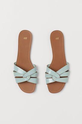 H&M Slides - Turquoise