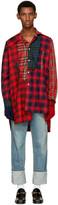 Loewe Red Tartan Patchwork Shirt