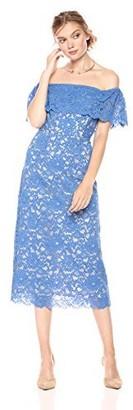 Paris Sunday Women's Off Shoulder Lace Sheath Dress
