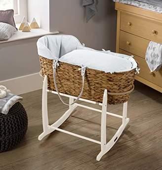 Clair De Lune Cotton Dream Hyacinth Moses Basket - Grey