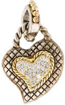 Candela Two-Tone Diamond Heart Pendant
