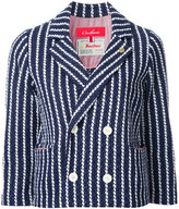 Coohem striped tweed jacket - women - Cotton/Linen/Flax/Nylon/Cupro - 38