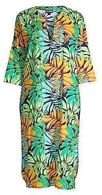 Vilebrequin Women's Fare Tropical Leaf-Print Midi Coverall