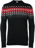 Saint Laurent embellished jacquard jumper