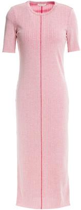 Rag & Bone Melange Ribbed Cotton-blend Midi Dress