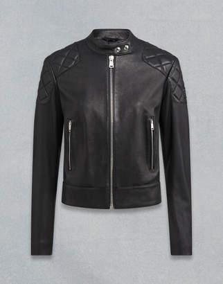 Belstaff Belhaven Leather Jacket Black UK 8 /