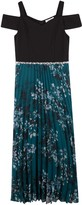 Speechless Girls 7-16 Cold-Shoulder Pleated Maxi Dress