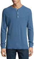 Billy Reid Hartford Slub Ribbed Henley T-Shirt