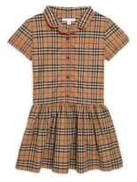 Burberry Little Girl's & Girl's Melanie Plaid Cotton Dress