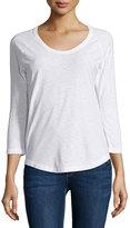 James Perse Long-Sleeve Raglan T-Shirt, White