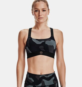 Under Armour Women's UA RUSH Mid Camo Sports Bra