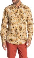 Scotch & Soda Palm Print Relaxed Fit Hawaiian Shirt