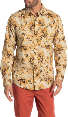 Scotch & Soda Palm Print Relaxed Fit Hawaiian Shirt