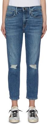 Frame 'Le Pixie Beau' distressed boyfriend jeans