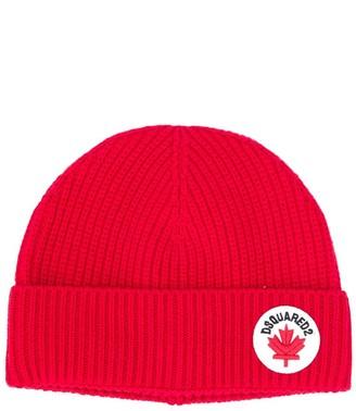 DSQUARED2 Rib Knit Beanie Hat