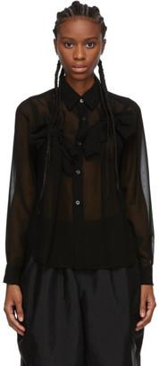 Comme des Garcons Black Georgette Bow Shirt