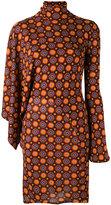 Givenchy geometric print dress - women - Silk/Acetate/Viscose - 38