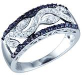 DazzlingRock Collection 0.42 Carat (ctw) 10k White Gold Round & White Diamond Ladies Right Hand Band