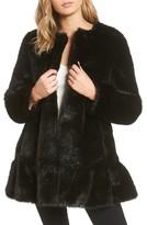 Kate Spade Women's Faux Mink Flounce Coat
