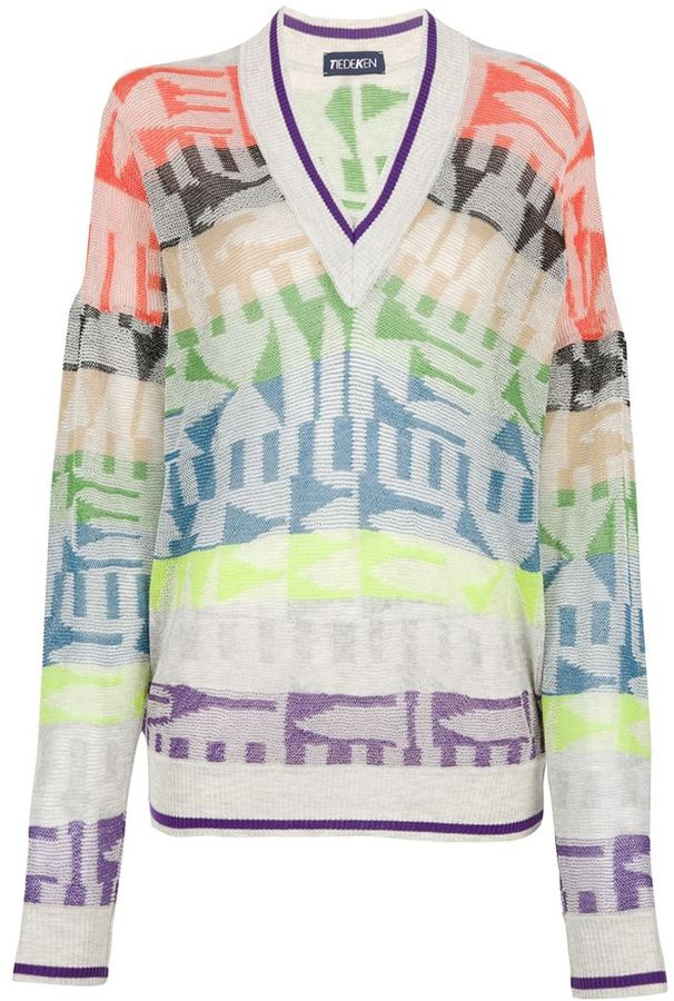 Tiedeken intarsia knit sweater