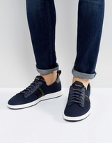 Ps By Paul Smith Rabknit Slip On Trainers In Navy