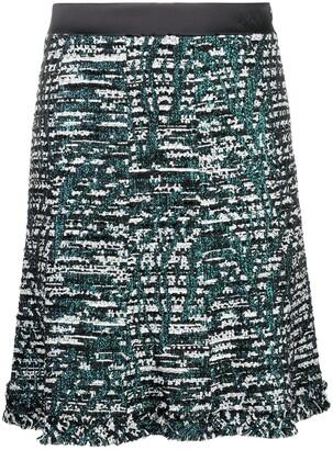 Karl Lagerfeld Paris A-Line tweed skirt
