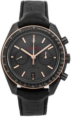 Omega Black Ceramic Speedmaster Moonwatch Chronograph 311.63.44.51.06.001 Men's Wristwatch 44 MM