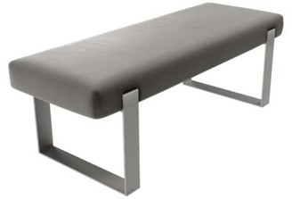 Wade Logan Bernardsville Bench Upholstery: Velvet, Color: Gothic Gray