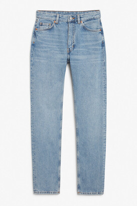Monki Kimomo mid blue tall jeans