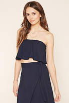 Forever 21 FOREVER 21+ Contemporary Strapless Crop Top