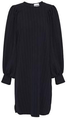 Ganni Pinstriped Stretch-crepe Mini Dress