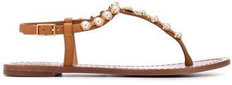 Tory Burch Pearl Embellished Sandals