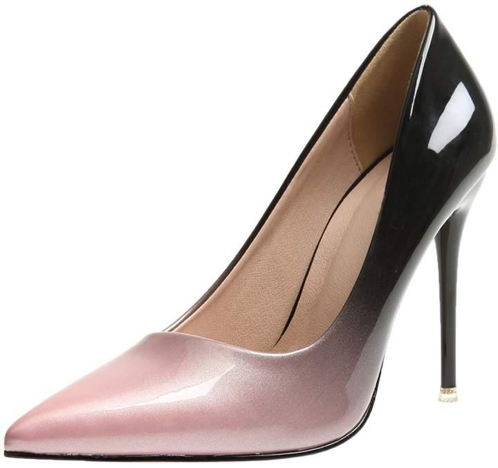 eedd251eedc9a BIGTREE Dress Pumps for Women Gradients Stiletto Wedding High Heels Shoes