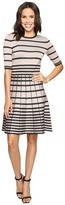 Christin Michaels Namana Striped Fit and Flare Dress