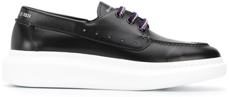 Alexander McQueen Chunky Rubber Sole Lace-Up Shoes