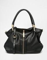 Dune Shoudler Bag With Zip And Tassle Detail