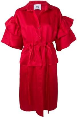 Couture Atu Body puff-sleeve midi dress