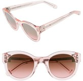 Bobbi Brown Women's 'The Zoe/s' 49Mm Sunglasses - Pink
